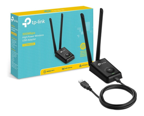 adaptador usb wifi rompemuros tp link wn8200nd 300mbps gtia
