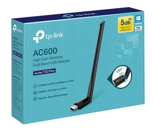 adaptador usb wifi tp link archer t2u plus ac600 doble banda