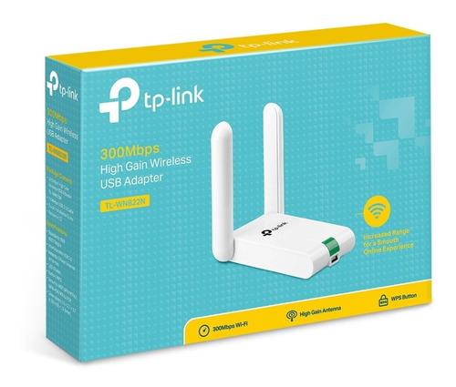 adaptador usb wifi tplink wn822n 300mbps alta ganancia 822n