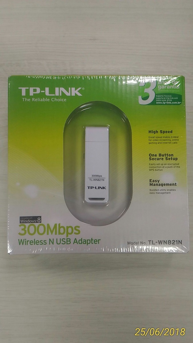 Adaptador Usb Wireless N 300mbps Tp Link Tl Wn821n 80211n R 35 Wifi Wn 821n Speed 300 Mbps Carregando Zoom