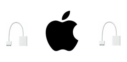 adaptador vga a 30 pines apple original ipad/iphone 3/4gen