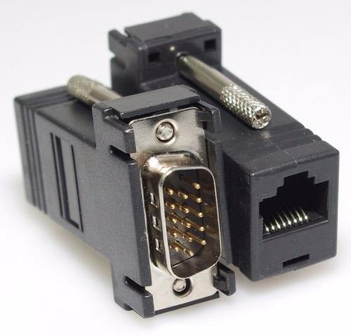 adaptador vga a vga mediante extensor rj45 ethernet cat 5,6
