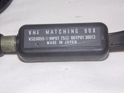 adaptador vhf matching box para tv ou rádio fm