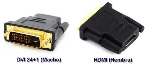 adaptador video dvi-d dual link 24+1 pines a hdmi hembra