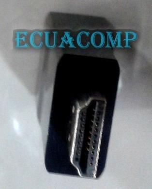 adaptador video hdmi a vga convertidor o transformador 4.5cm