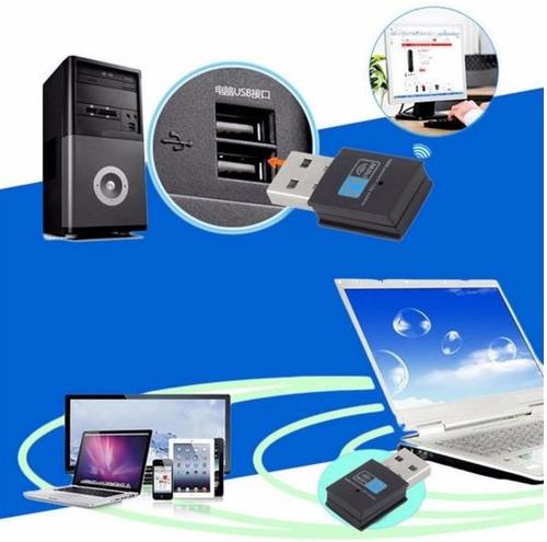 adaptador wi-fi de red inalámbrica 300 mbps mini usb
