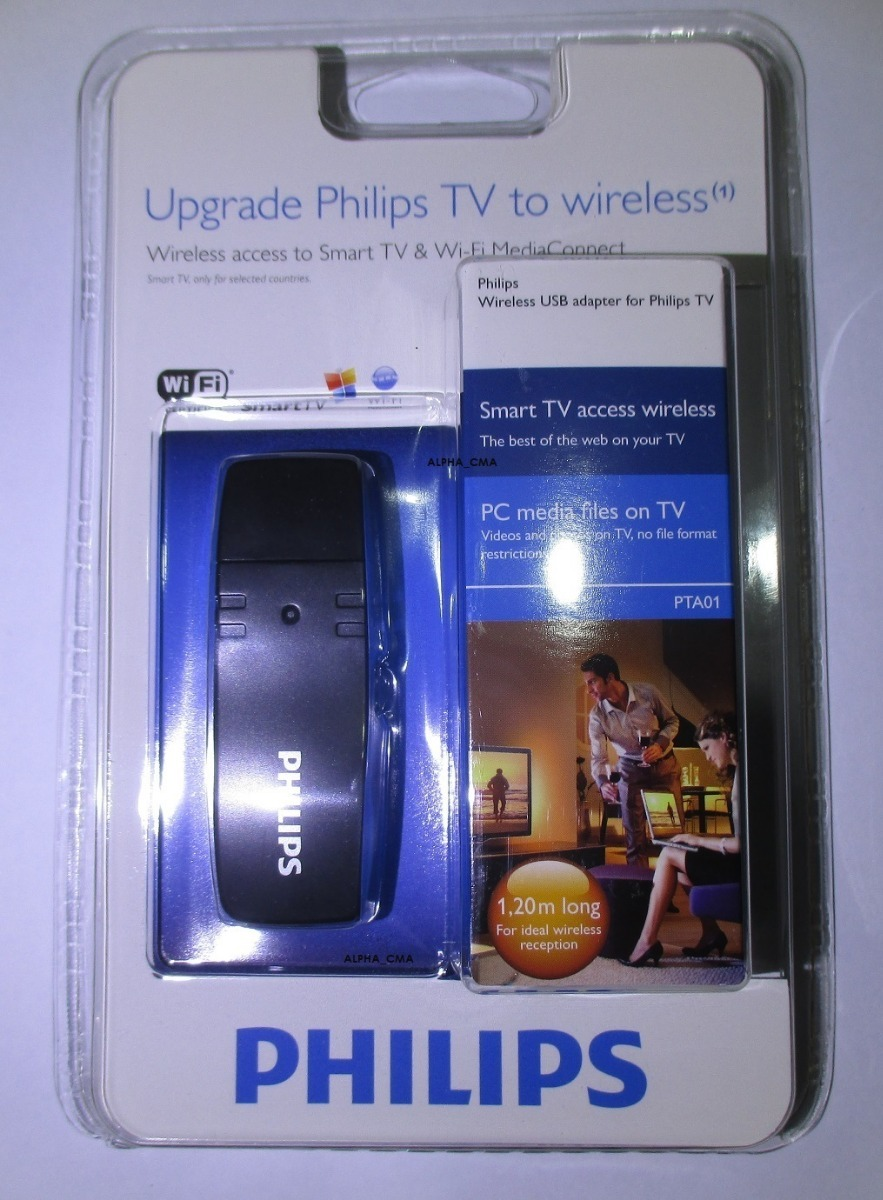 7daf00623d73b Adaptador Wi-fi Wireless Smart Tv Blu-ray Philips Pta01 Novo - R  39 ...