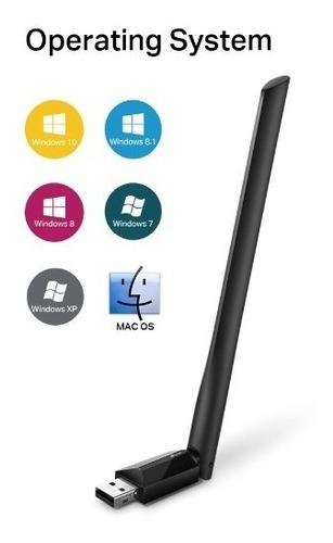 adaptador wifi usb archer t2u plus ac600 5dbi - simmcye