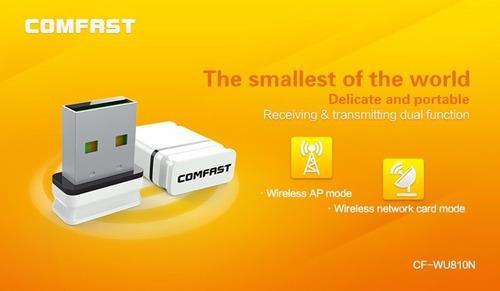 adaptador wifi usb comfast cf-wu810 mini, pc, linux, mac