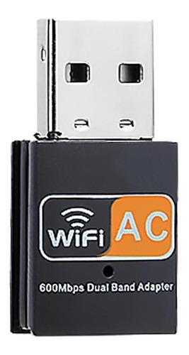 adaptador wifi usb dual band placa red inalámbrica 600 mbps
