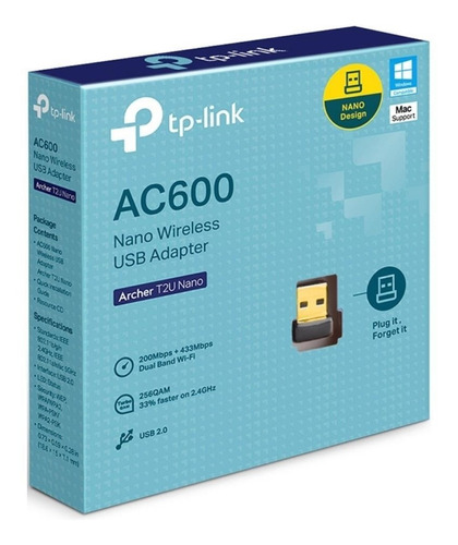 adaptador wifi usb tp link t2u nano dual band ac600 circuit