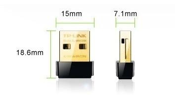 adaptador wifi usb tp link tl wn725n 150mbps nano