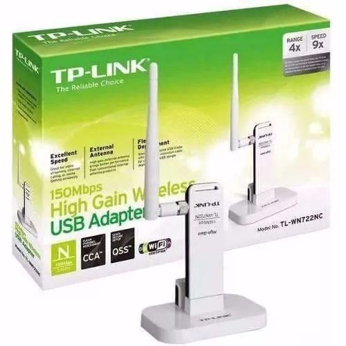 adaptador wireless tp-link usb wn-722n 150mbps wifi