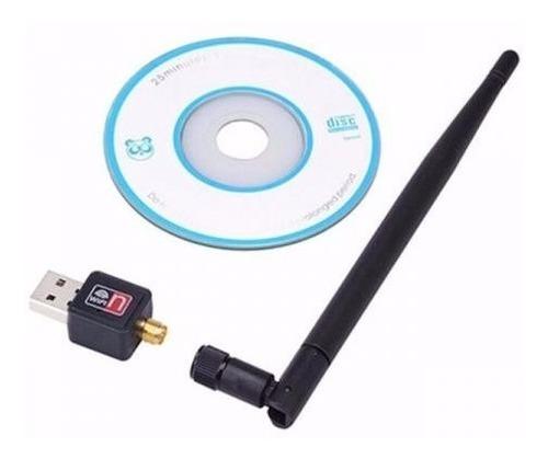 adaptador wireless usb receptor wifi com antena 600 mbps