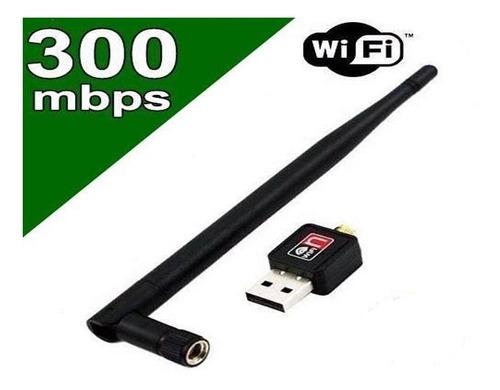 adaptador wireless usb wifi 300mbps sem fio lan b/g/n antena