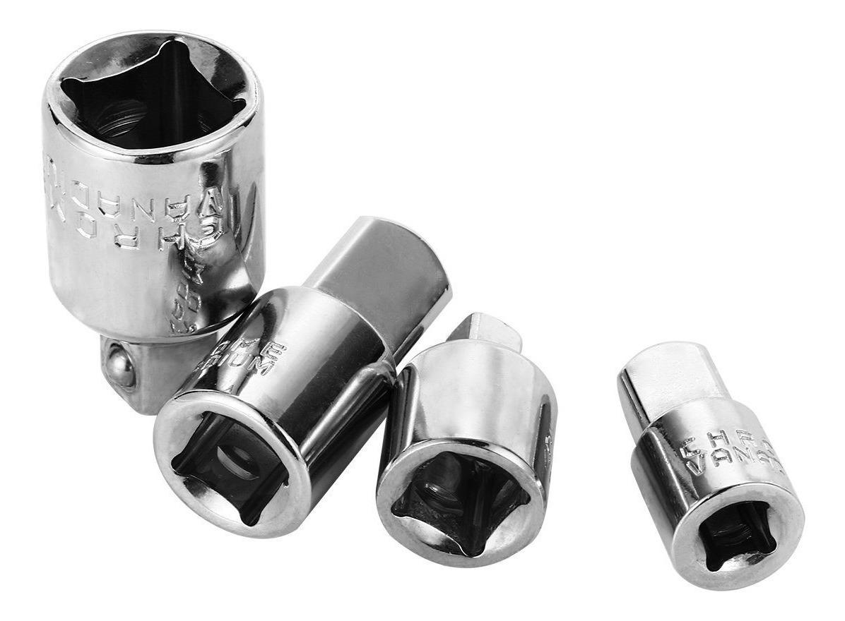 Adaptador de llave de carraca de 1//4 3//8 1//2 de acero al cromo vanadio