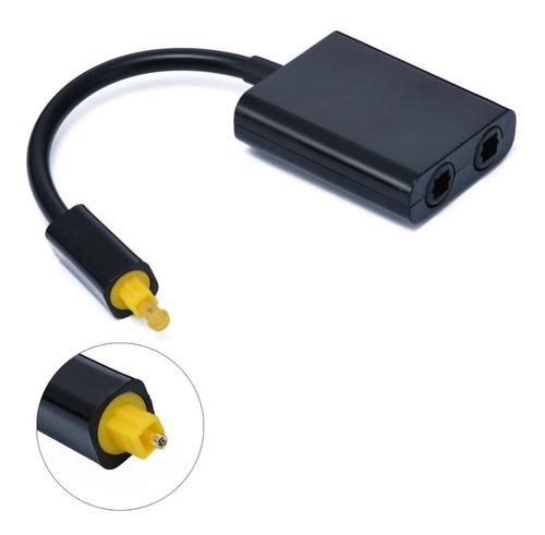 adaptador y 2x1 divisor ótico toslink splitter + 2 cabo - 2m