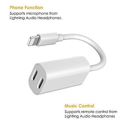adaptador y cargador 2 en 1 lightning para iphone x 8/8