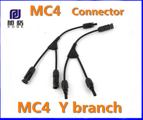 adaptador y - mc4 solar 2:1 para placa solar fotovoltaico