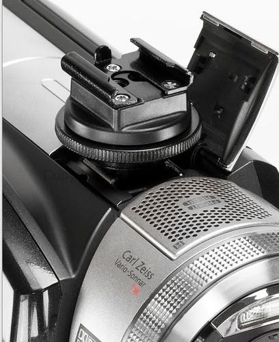 adaptador zapata hot shoe sony mini para luz de led etc