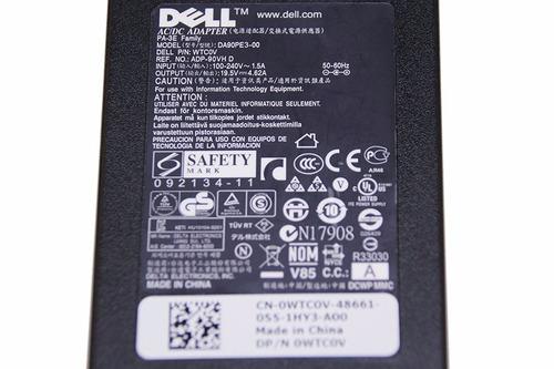 adaptador/cargador dell 90w laptop charger ac for inspiron