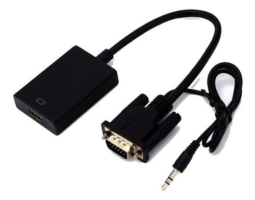 adaptador/convertidor de  vga macho  a hdmi hembra con audio