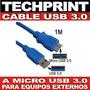 Cable Usb 3.0 Micro Usb 3.0 Para Disco Duro Externo