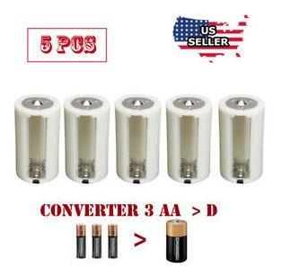 adaptadores de bateria de 1.5v aa y d convertidor casos de p