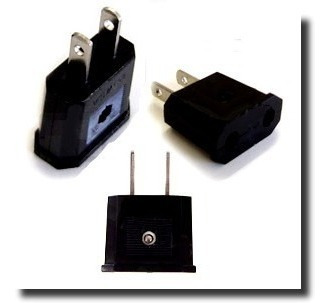 adaptadores de tomada padrão americano(usa) pino chato 4pçs