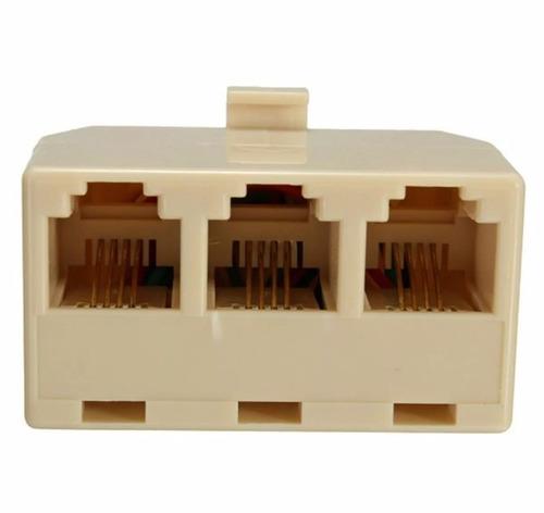 adaptadores rj11 de 3 salidas para teléfono, fax, módem