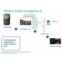 Modem Movistar+deco Tv+huawei+tablet Celular Empresas O Prof