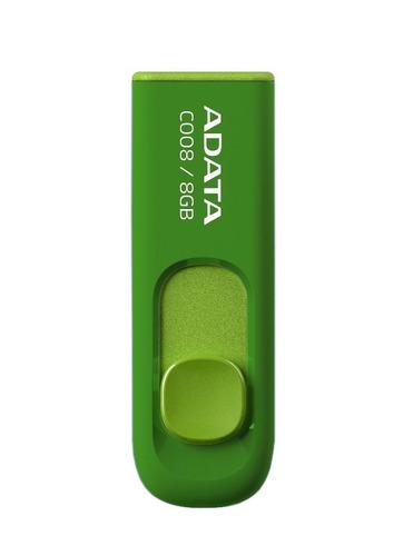 adata c008 memoria usb 8gb retráctil verde