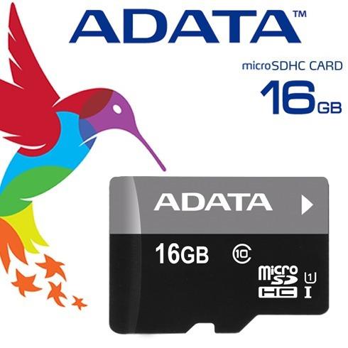 adata memoria micro sd hc 16gb clase 10 celulares 30mb/s