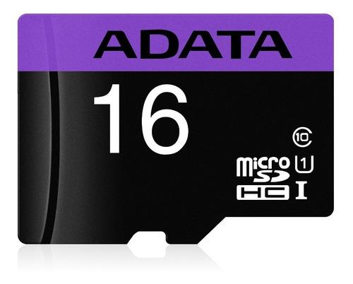 adata memoria micro sd hc 16gb uhs-i clase 10 celulares 50mb