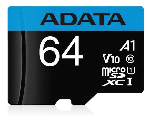 adata memoria micro sd hc 64gb uhs-i a1 celulares alta transferencia mayoreo barata 100% original sellada nueva