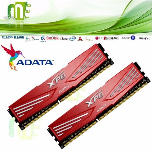 adata memoria ram xpg 8gb / 2x4gb ddr3-2133 pc3-17000 red