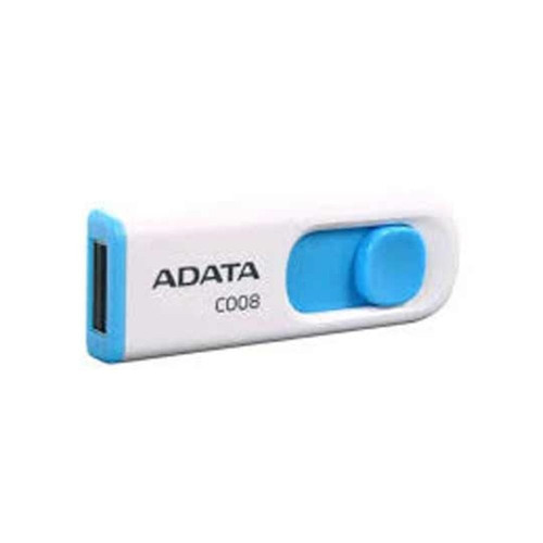 adata memorias usb portatil 8gb retractil 2.0 c008 naranja