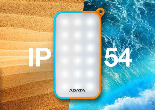 adata power bank bateria recargable lámpara d8000l azul