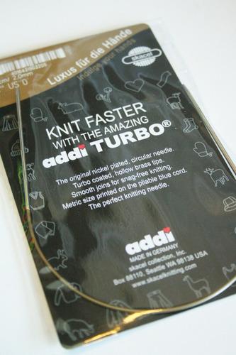 addi turbo circular 12 pulgadas (30 cm) aguja de tejer; t