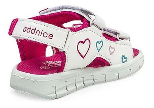 addnice sandalias baby - corazón blco