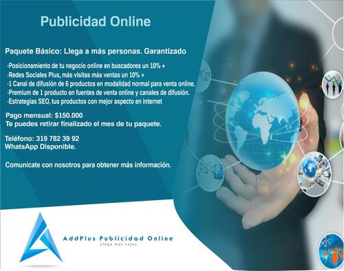 addplus publicidad por internet, posicionamos tu negocio