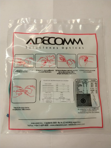 adecomm patchcord fo mm/dx/5m lc/pc lc/pc 50/125 om3