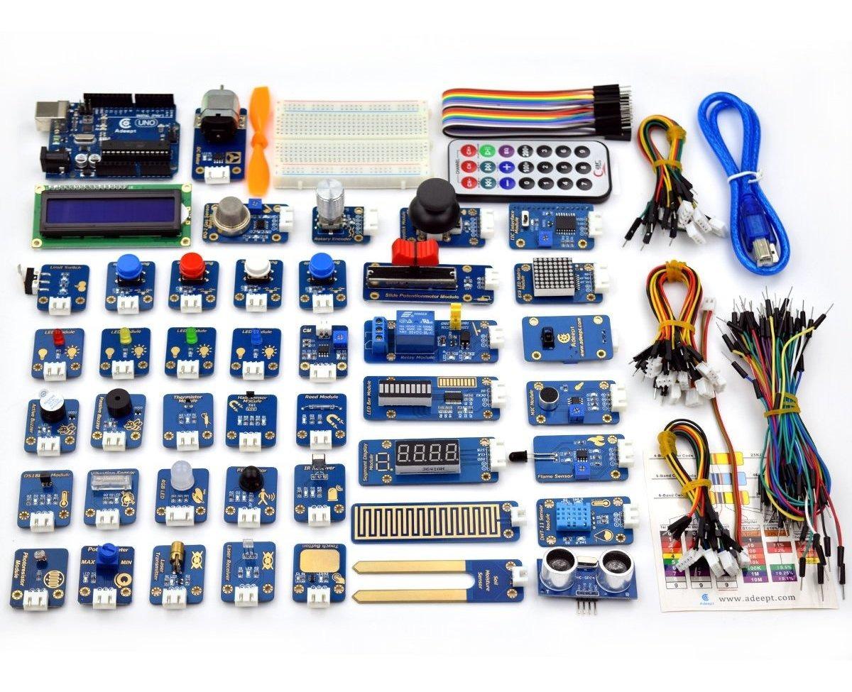 Adeept Kit De 42 De Unidades De Módulos Para Arduino Uno R3