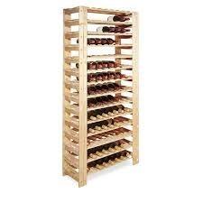 adega em madeira clara - 126 garrafas de vinho