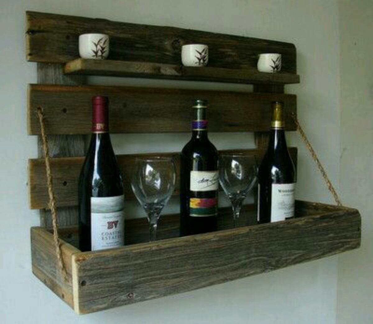 Adega Madeira Parede Vinho Bebidas Bar Estante Prateleira R$ 120 00  #5C472D 1200x1041