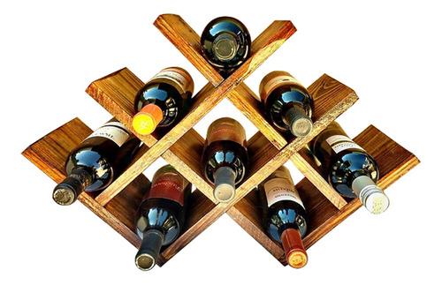 adega tipo colmeia rústica até 8 vinhos art madeira 2 unid