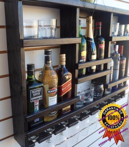 Adega vinhos barzinho sala porta ta as madeira rustica r for Modelos de bares rusticos para casas