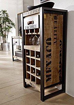 Adega movel industrial vintage retr r 589 00 em for Muebles industriales madera y hierro
