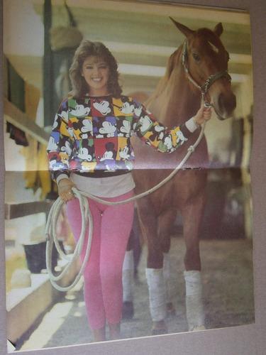 adela noriega poster daniela romo en portada teleguia 1988