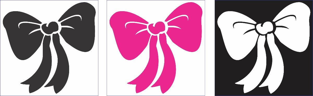 Adesivo Estrela Fluorescente ~ Adesivo 10 Cm Laço Decorativo Garota Feminino Notebook